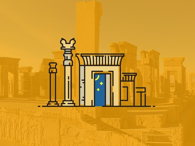 Perspolis shiraz yellow takht-e jamshid civilization building persia iran perspolis
