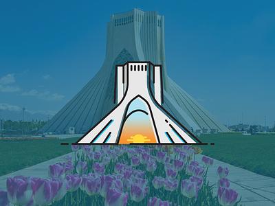 Azadi Tower iran icon building tower azadi