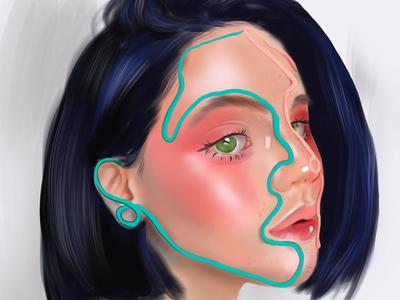 Blue hair girl 0213