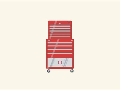 Toolbox snap-on craftsman tool tools toolbox design illustration