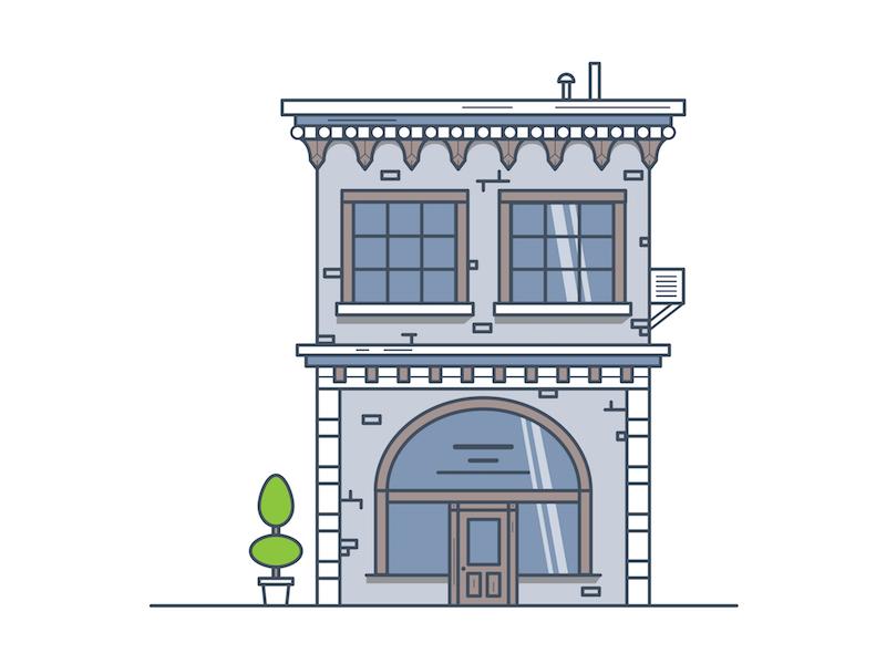 Main Street Office studio office buildings graphic design illustration illustrator design