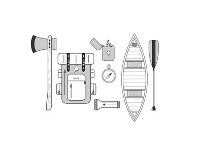 Simple Camping Illustrations  illustrator icons camping illustration design
