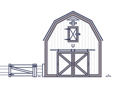 Barn farm building design illustrations illustration barn