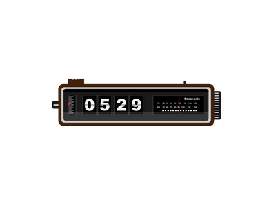 Clock Radio art artwork vector alarm retro panasonic graphic radio illustrator clock illustration design