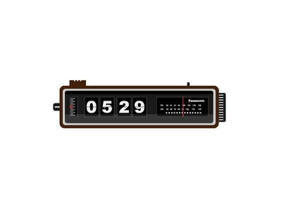 Clock Radio art artwork vector alarm retro panasonic graphic radio illustrator clock illustration design
