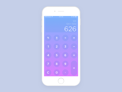 DailyUI #004 Calculator ui design app iphone ui calculator design dailyui daily