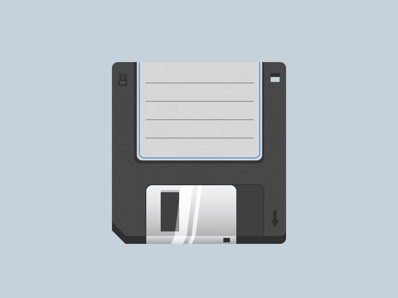DailyUI #005 App Icon floppy disc ui design ui iphone design dailyui daily icon app