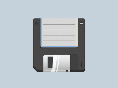 DailyUI #005 App Icon floppy disc ui design ui iphone design dailyui daily icon app