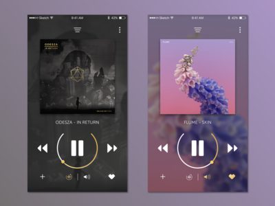 DailyUI 009 Music Player