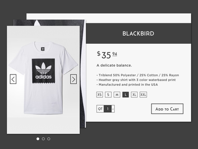 DailyUI #012 E-Commerce Shop adidas shop e-commerce card vector ux ui flat design dailyui