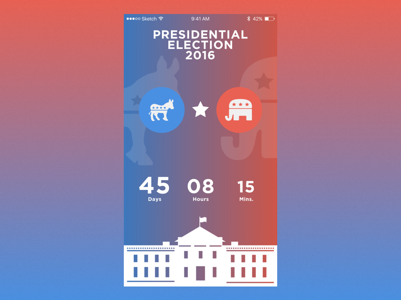 DailyUI #014 Countdown Timer illustration vector ux ui flat design dailyui timer countdown election