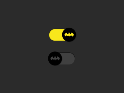 DailyUI #015 On/Off Switch ui switch simple ux onoff batman design daily dark challenge