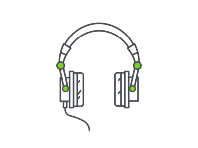 Headphones flat design illustrator illustration vector music headphones