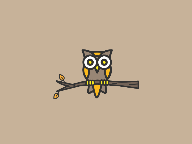 Autumn Owl line art design illustrator fall owl vector illustration
