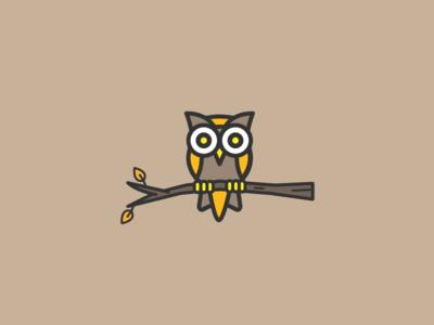 Autumn Owl line art design illustrator fall owl vector illustration