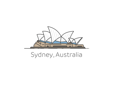 Sydney Branding brand simple opera  house australia logo branding illustration design house opera sydney