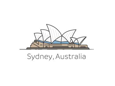 Sydney Branding brand simple opera  house australia logo branding illustration design house opera sydney