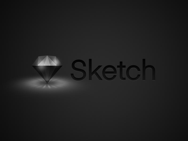 Sketch Logo - Dark Mode UI sketch icon sketch logo apple mojave macos mojave ui dark mode sketch app sketch diamond