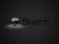 Sketch Logo - Dark Mode UI