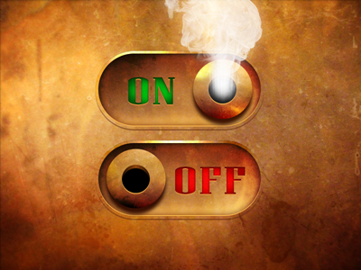 Steampunk On/Off Switch texture switch metal app copper industrial off on steampunk ui