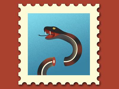 USPS post office stamp mail political politics snake texture photoshop illustration