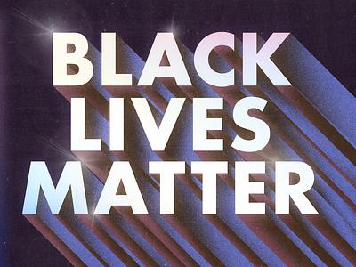 Black Lives Matter equality justice typography texture photoshop illustration