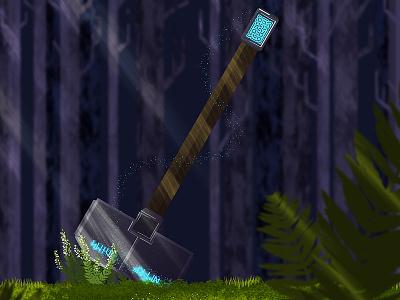 Hjoldar's Hammer dwarf magic woods forest dragons dungeons fantasy hammer