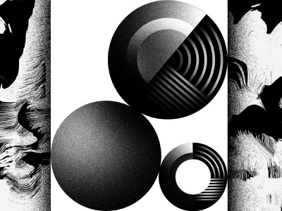 Shapes 01 steel metal sphere ball abstract shapes illustration white black