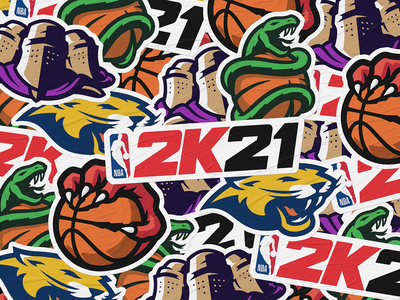 NBA 2K21 Concepts kumppari illustration sports logo sports branding basketball sports gaming esports nba2k21 nba
