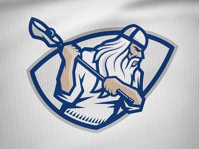 National Finnish Lacrosse identity –Men's primary mark väinämöinen warrior kumppari finland lacrosse sports logo sports branding