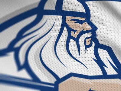 National Finnish Lacrosse identity –Men's primary mark detail väinämöinen warrior kumppari finland kalevala lacrosse sports logo sports branding