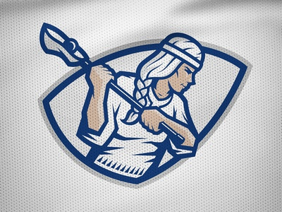 National Finnish Lacrosse identity – Women's primary mark aino warrior kumppari finland kalevala lacrosse sports logo sports branding