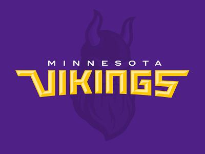Minnesota Vikings Rebrand Concept Wordmark nfl viking vikings minnesota rebranding sports logo sports branding