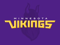 Minnesota Vikings Rebrand Concept Wordmark