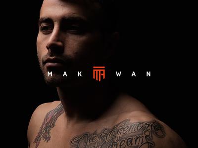 Makwan Amirkhani Official Branding fighter makwan ufc mma branding sports photography athlete branding sports logo sports branding