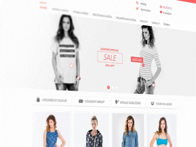 E-commerce website ui ux minimal flat homepage website e-commerce