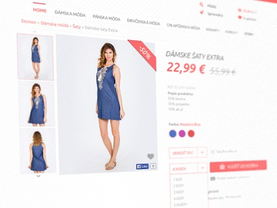 E-commerce website - Product detail ui ux minimal flat product website e-commerce