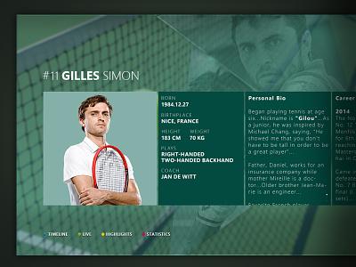 IPTV - AccorHotels Arena (Player detail) venue tennis live iptv arena