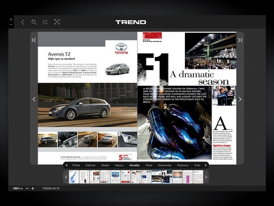 CoverPage Reader - Desktop newstand magazine digital ui ux