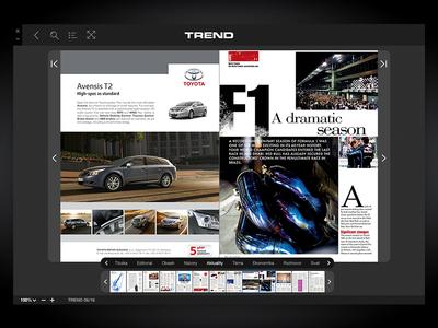 CoverPage Reader - Desktop newstand magazine digital ui ux