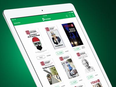 CoverPage Reader - Light skin newstand magazine digital ui ux