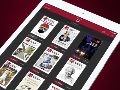 CoverPage Reader - Dark skin newstand magazine digital ui ux