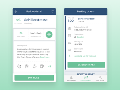 Smart Parking App extend amenities ticket car parking
