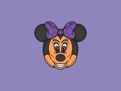 Minnie Mouse but make it Spooky spooky halloween halloween design procreate illustration mickey mouse mickeymouse walt disney disney princess disney world disney art disneyland disney characters disney mouse minnie minnie mouse