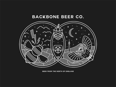 Backbone Beer Co. Branding