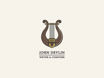 John Devlin Logo music logo greek orpheus instrument ancient greece lyre composer writer