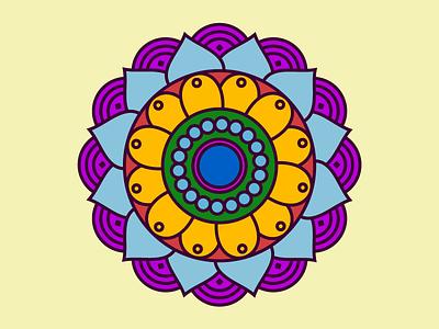 Mandala hantiart hanti colors psytrance music illustration mandala