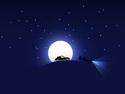 Night Race sky dark moon desert race night