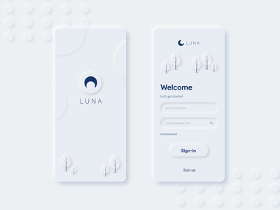 Soft UI - App Sign-In page concept login signin app neumorphism softui
