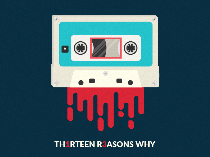 13 Reasons Why series netflix cassette retro minimal 13reasonswhy